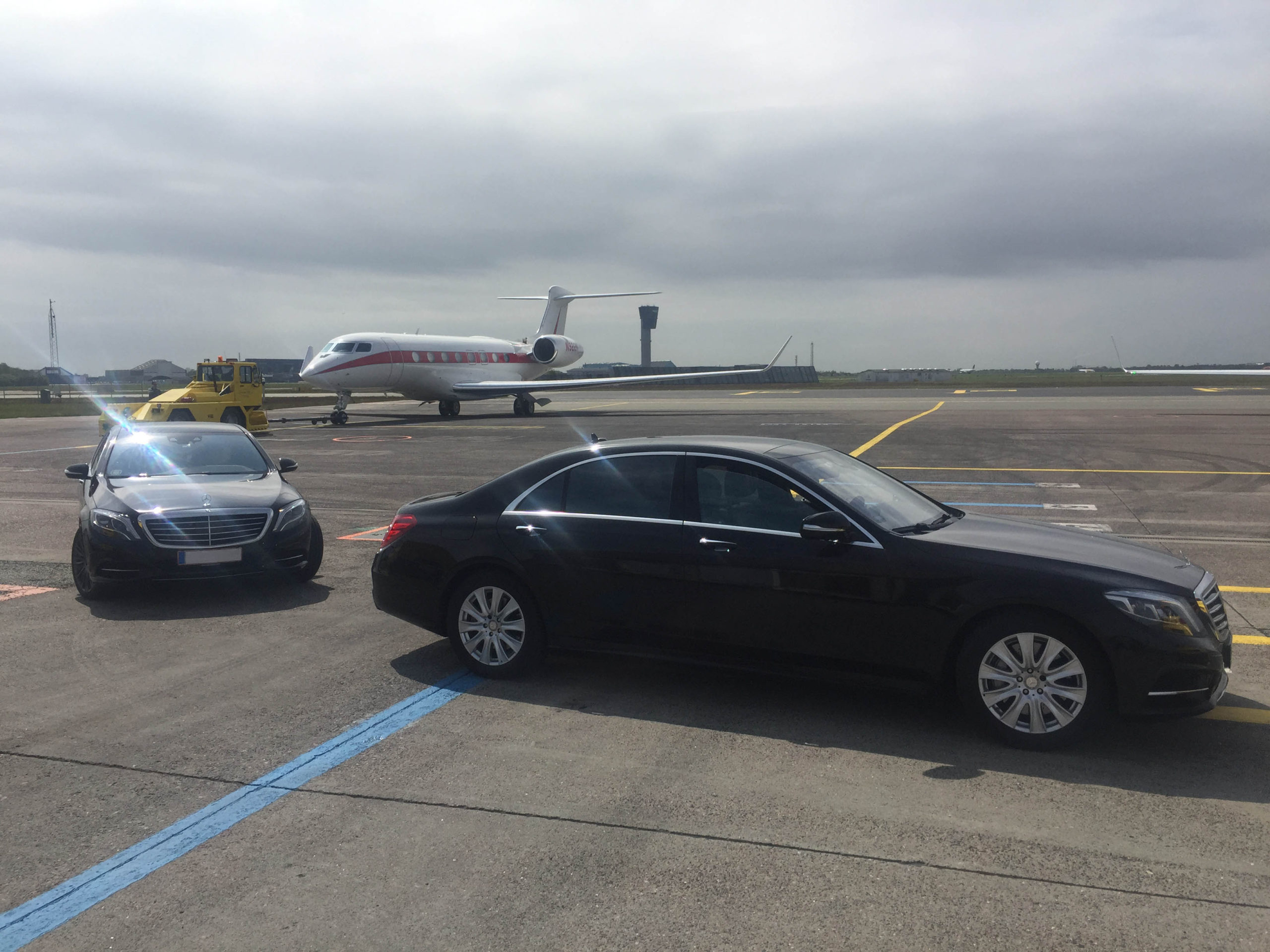 Limousines on airport