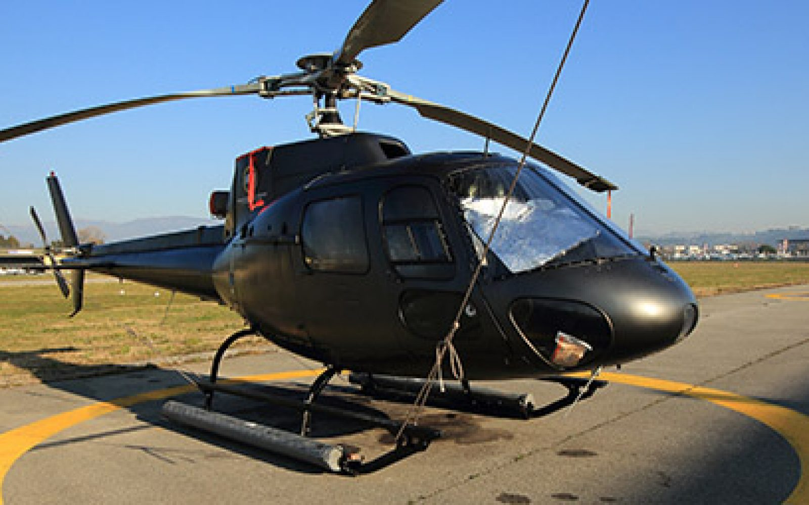 Black Private Helicopter